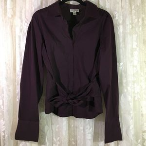 Coldwater Creek Long Sleeve Button Down Blouse